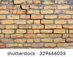 brick foundation with a crack... | Shutterstock . vector #329666033