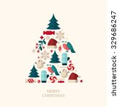 christmas vector icons | Shutterstock .eps vector #329686247