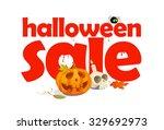 halloween sale design written... | Shutterstock . vector #329692973