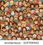 kids   hand drawn seamless... | Shutterstock .eps vector #329709443