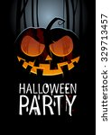 halloween party design template ... | Shutterstock . vector #329713457