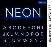 blue glowing font from a neon... | Shutterstock .eps vector #329724977