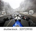 Man Driving On Moto On Big...