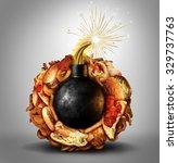 junk food time bomb health... | Shutterstock . vector #329737763