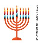 happy hanukkah  jewish holiday. ... | Shutterstock .eps vector #329741123