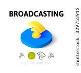 broadcasting icon  vector...
