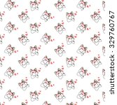 cute cartoon cats pattern. | Shutterstock .eps vector #329760767