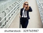 young fashion business woman in ... | Shutterstock . vector #329765987