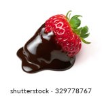 strawberry with chocolate... | Shutterstock . vector #329778767