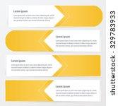 horizontal banner vector design ... | Shutterstock .eps vector #329783933