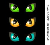 cat eyes | Shutterstock .eps vector #329797943