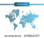 dotted world map isolated on...