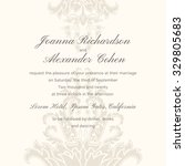 wedding invitation with... | Shutterstock .eps vector #329805683