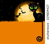 halloween background with black ... | Shutterstock .eps vector #329809427