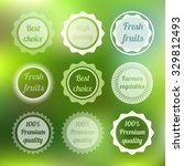 set of circle logos on the... | Shutterstock .eps vector #329812493
