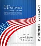 veterans day. brochure design... | Shutterstock .eps vector #329812607
