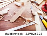 making model airplane from wood.... | Shutterstock . vector #329826323