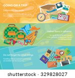 going on a trip. travel flat... | Shutterstock .eps vector #329828027