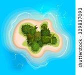 cartoon exotic island in ocean | Shutterstock .eps vector #329837093