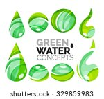 set of abstract eco water icons ... | Shutterstock .eps vector #329859983
