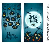halloween background of... | Shutterstock .eps vector #329872103