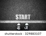 People At A Starting Line With...