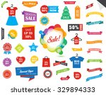 Vector file representing Sale Label Tag Sticker Banner Ribbon collection set. | Shutterstock vector #329894333