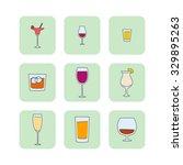 vector set of hand drawn... | Shutterstock .eps vector #329895263