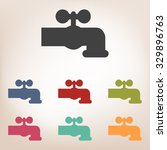 the water faucet icon set | Shutterstock . vector #329896763
