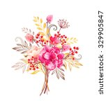 floral arrangement  flowers... | Shutterstock . vector #329905847