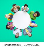 diverse people happiness... | Shutterstock . vector #329910683