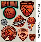 set of sports template  for... | Shutterstock .eps vector #329914643