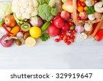 fresh vegetables on a wooden... | Shutterstock . vector #329919647