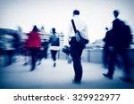 business people commuter... | Shutterstock . vector #329922977