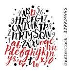handwritten calligraphic font.... | Shutterstock .eps vector #329924993