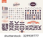 152 Premium design elements. Great for retro vintage logos. Starbursts, frames and ribbons Designers Collection | Shutterstock vector #329939777