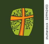 Cross And Tree  Tree Of Eterna...