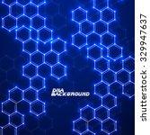 abstract molecular structures.... | Shutterstock .eps vector #329947637