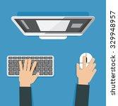 vector illustration of hands... | Shutterstock .eps vector #329948957