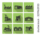 flat icon set of distribution... | Shutterstock .eps vector #329963933