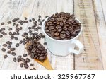 coffe beans  real coffe  coffe   Shutterstock . vector #329967767