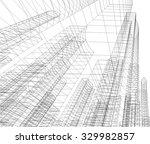 cityscape. architectural...   Shutterstock .eps vector #329982857