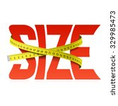 squeezed size word concept.... | Shutterstock .eps vector #329985473