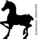 Standing Horse Silhouette  ...