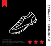 soccer boots label   vector... | Shutterstock .eps vector #329998613