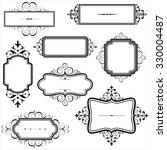 vintage frames with scrolls  ... | Shutterstock .eps vector #330004487