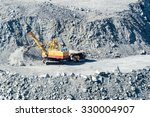 quarry for extraction of... | Shutterstock . vector #330004907