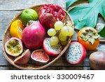 exotic fruits | Shutterstock . vector #330009467