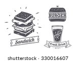 burger  sandwich and hotdog...   Shutterstock .eps vector #330016607