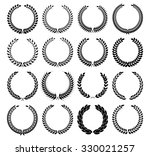 set laurel wreath   symbol of... | Shutterstock .eps vector #330021257